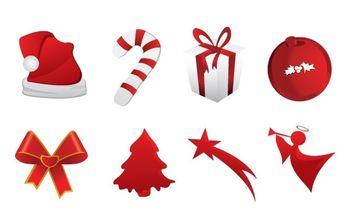 Christmas icons - Free vector #179447