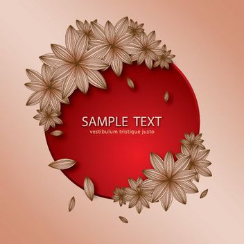 Beautiful Circular Banner with Flourishes - vector gratuit #179517