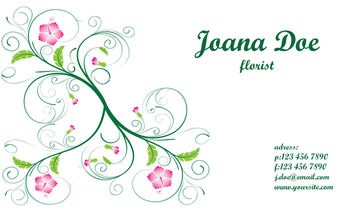 Elegant Floral Business Card Template - vector gratuit #179587