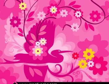 Beautiful Pinkish Flourish Artwork - Kostenloses vector #179627
