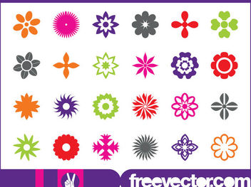 Floral Blossom Icon Pack - vector #179637 gratis