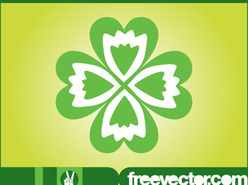Four Leaf Clover Flower - Free vector #179647