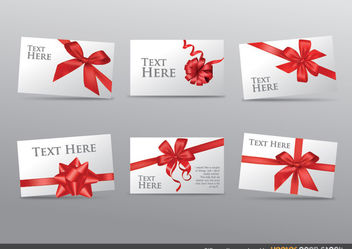 Gift Greeting Cards set - vector gratuit #179767