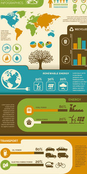 Ecology Environment Infographic - vector #179777 gratis