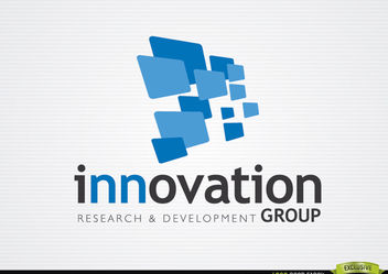 3D Blue Rectangles Innovation Logo - Free vector #179917