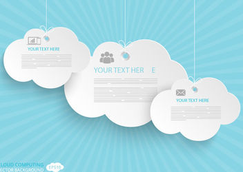 Communication Cloud Computing Concept - бесплатный vector #179947