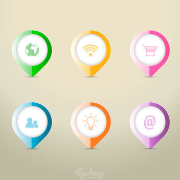 Check Pointer Icons Colorful Infographic - Free vector #179977