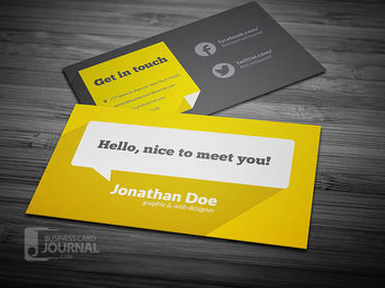 Flat Cloud Bubble Business Card - Free vector #180017