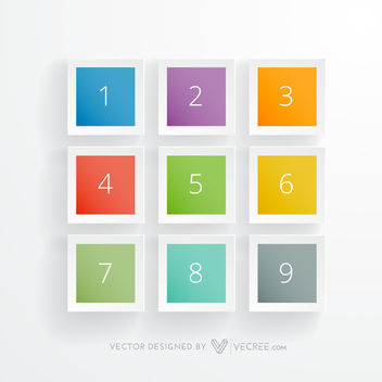 Multicolor Glossy Squares Infographic - Free vector #180077