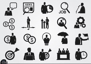 20 Businessman icons - Kostenloses vector #180137