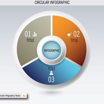 E-Commerce & Business Circular Info-graphic - vector gratuit #180147