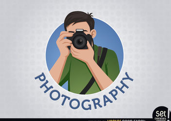 Photographer logo - Free vector #180217