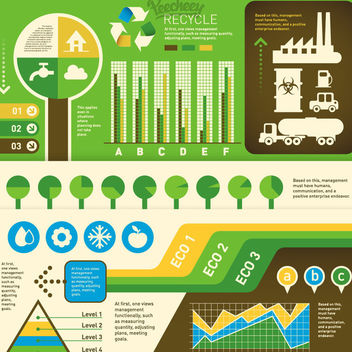 Flat Ecology Infographic Set - Free vector #180347