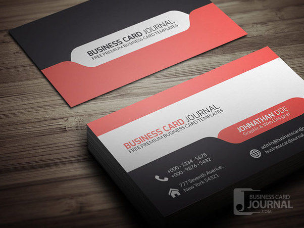 Stylish Modern Business Card with Tab - Free vector #180387