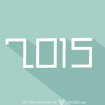 Flat Paper Cut New Year 2015 Long Shadowed Typography - vector gratuit #180437