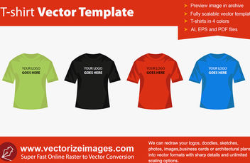 T-Shirt Design Templates - vector #180527 gratis