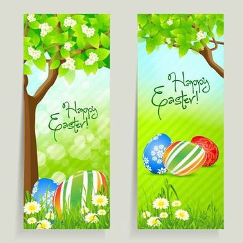 2 Easter Card with Fresh Daisy - Free vector #180537
