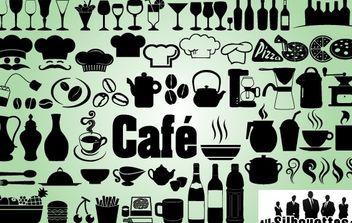 Creative Icon Pack of Cafe Restaurant - vector gratuit #180637