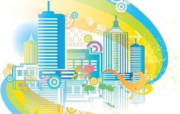 City Skyline Vector 03 - vector #180667 gratis