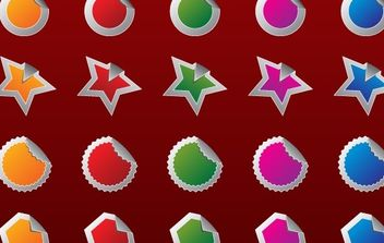 Free High Quality Vector 2 - badges - vector gratuit #180677