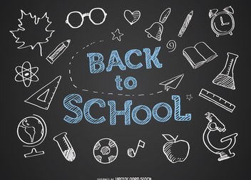 Back to school blackboard - vector gratuit #180687