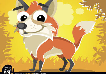 Cute Fox cartoon animal - бесплатный vector #180797