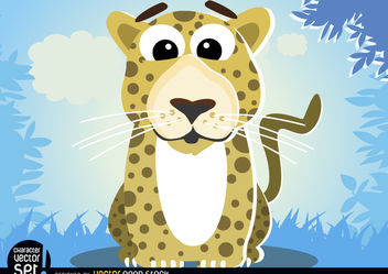 Leopard in jungle cartoon animal - Kostenloses vector #180817