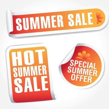 Hot Summer Sales Tag Set - vector gratuit #181207