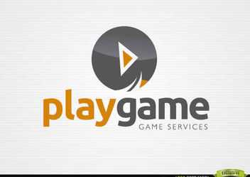 Play Circle Button Game Logo - vector gratuit #181387