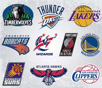 NBA team vector logos - vector gratuit #181407
