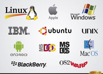 Software operating system company logos - vector gratuit #181457