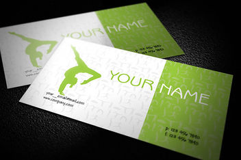 Green Yoga Business Card Template - vector gratuit #181517