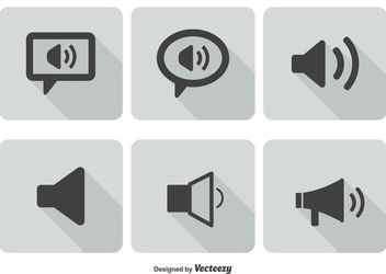 Flat Sound Volume Icon Set - Free vector #181567