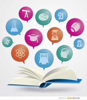 Book academic icons - Free vector #181587