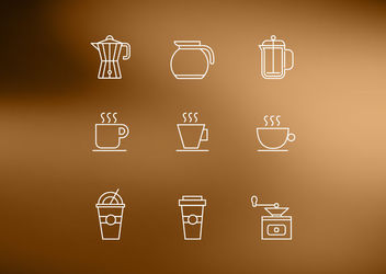 Outlined Kitchen Utensil Icon Pack - vector gratuit #181597