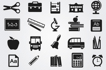 Study objects icons set - vector gratuit #181707