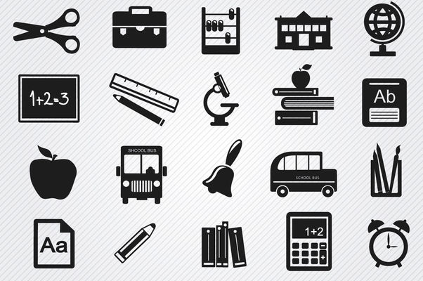 Study objects icons set - vector #181707 gratis