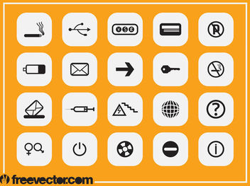 Black & White Flat Icon Pack - бесплатный vector #181787