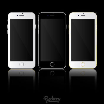 iPhone 6 Mockup Templates - Kostenloses vector #181837