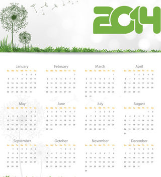 Nature Touch 2014 Calendar - vector gratuit #181927