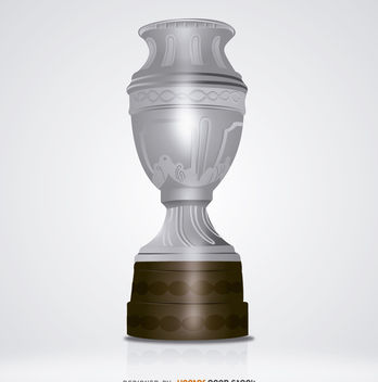 Big silver trophy - vector gratuit #181967