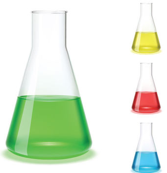 Chemistry & Science Glassy Flask - Free vector #182027