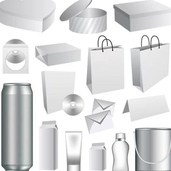 3D Packaging Mockup Template - vector gratuit #182067