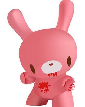 3D Pinkish Bunny Toy - бесплатный vector #182097
