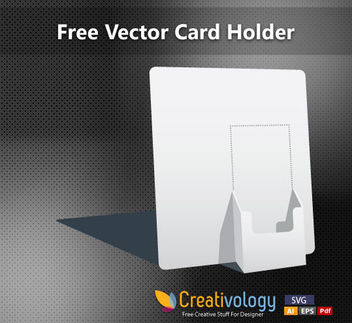 3D Paper Made Card Holder - vector gratuit #182107