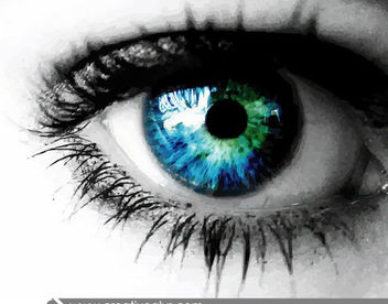 Realistic Eye with Blue Eyeball - Free vector #182127