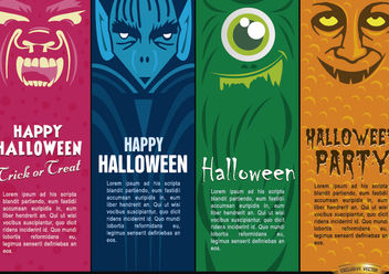 Halloween monsters bookmarks - vector gratuit #182217