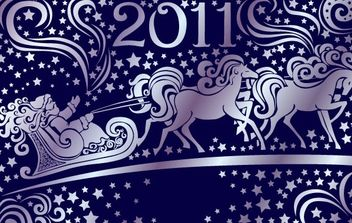 2011 New Year vector 2 - Free vector #182257