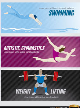 Olympic sports headers - Free vector #182267