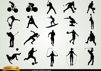 Set of Sport Silhouettes - Free vector #182407